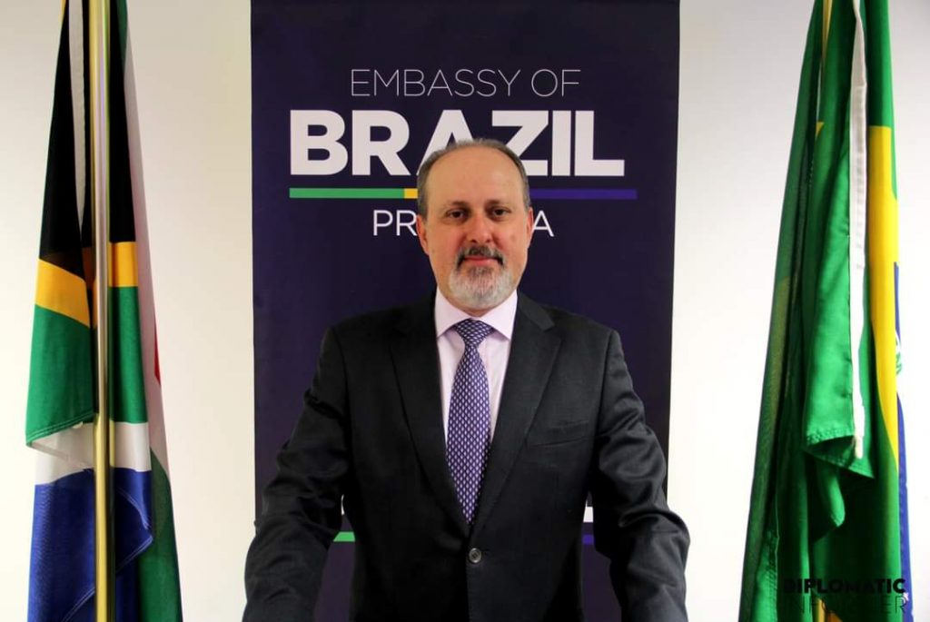 H. E. NEDILSON JORGE, BRAZIL'S  AMBASSADOR TO SOUTH AFRICA ON THE  OCCASION OF THE 198TH ANNIVERSARY OF INDEPENDENCE & 10 YEARS OF BRAZIL-SA STRATEGIC PARTNERSHIP. 7 SEPTEMBER 2020