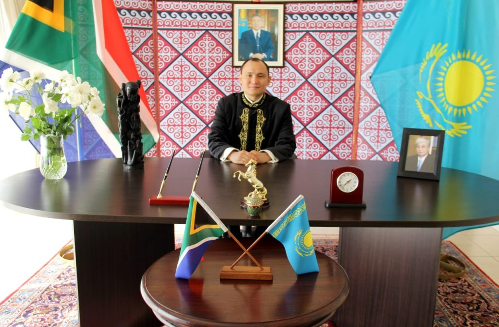 I N T E R V I E W  OF H.E. MR KANAT TUMYSH  AMBASSADOR OF KAZAKHSTAN TO SOUTH AFRICA  TO THE 'DIPLOMATIC INFORMER' MAGAZINE