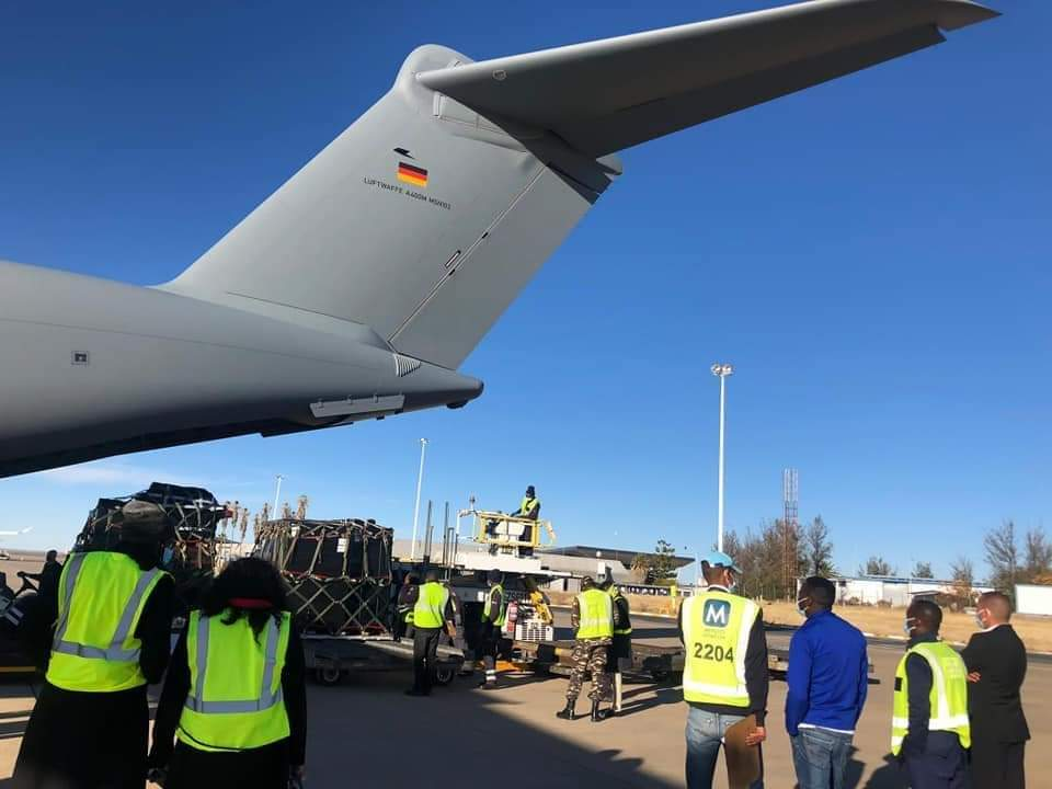 NAMIBIA RECEIVES 25 TONS OF COVID SUPPORT FROM GERMANY