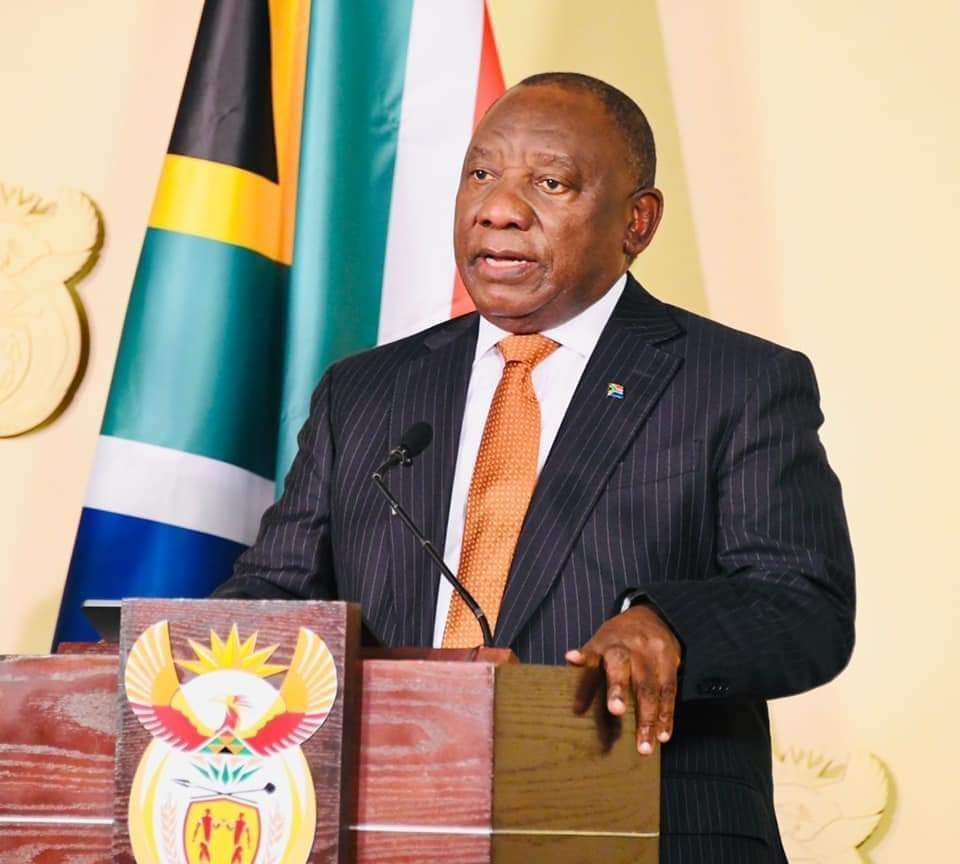 UPDATE BY PRESIDENT CYRIL RAMAPHOSA ON SECURITY SITUATION IN THE COUNTRY